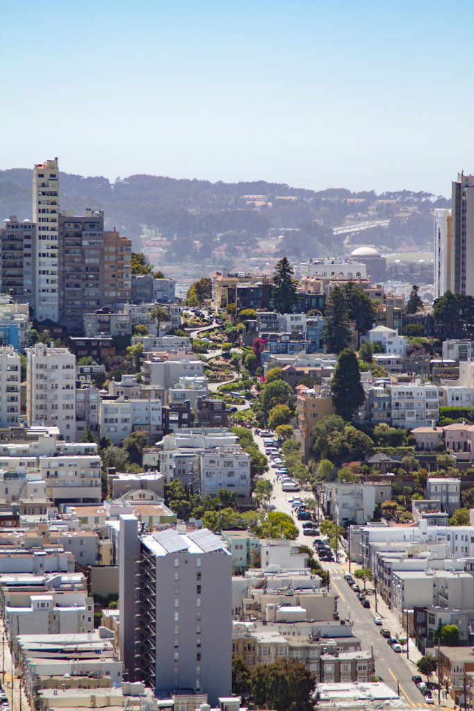 Crooked Street from Coit Tower
